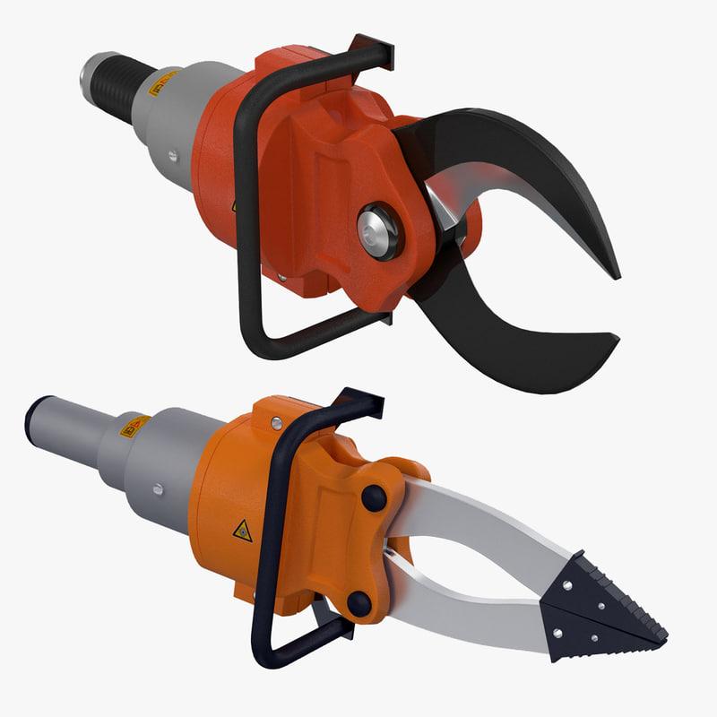 hydraulic rescue tool 3d model