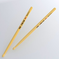 3d drumsticks drum sticks model