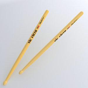 3d drumsticks drum sticks model