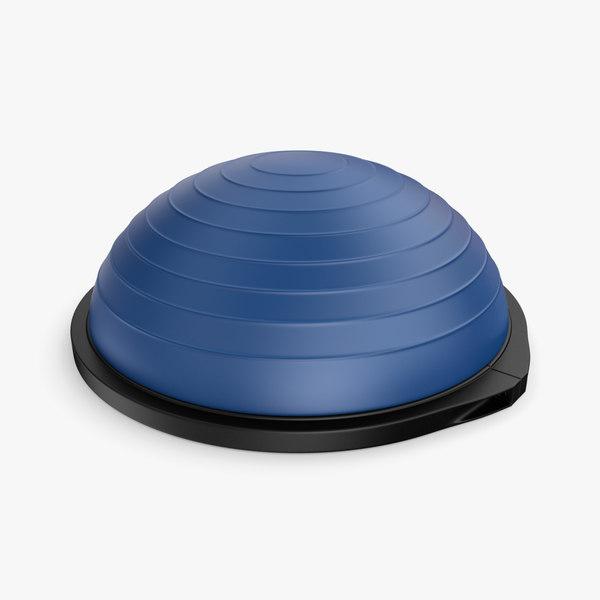 iray bosu balance trainer 3d model