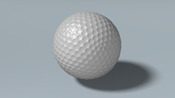 free 3ds model golfball ball gameready