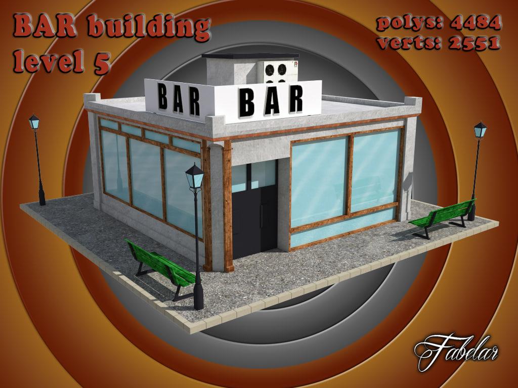 3d model bar level 5