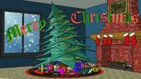 pine tree christmas gift 3d max