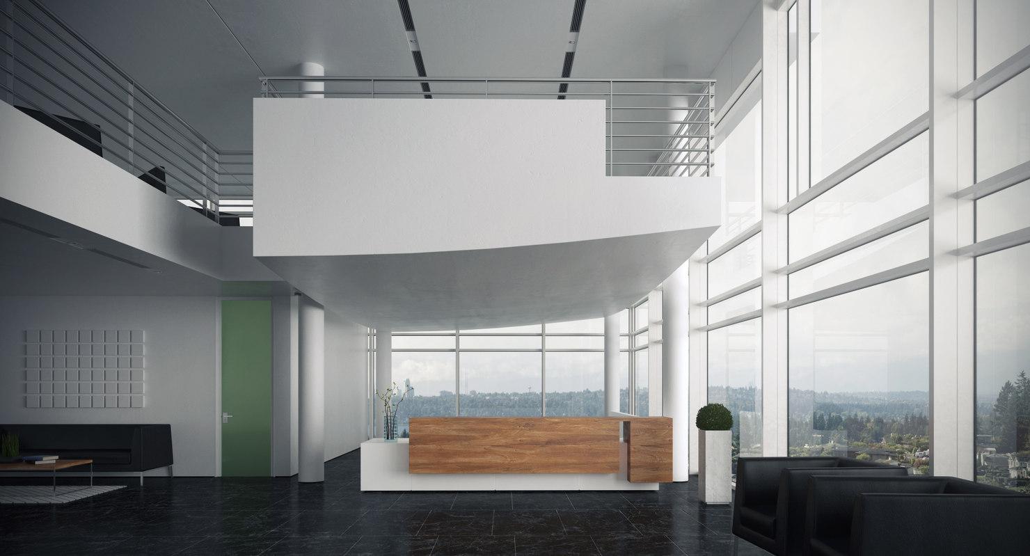3d interior scene reception model