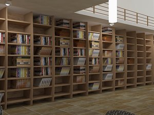 library realistic 3ds