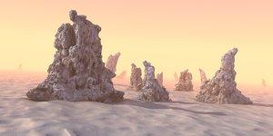 3d model desert planet