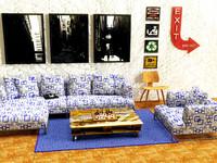 3d sofa designed model