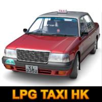 3d model hong lpg taxi