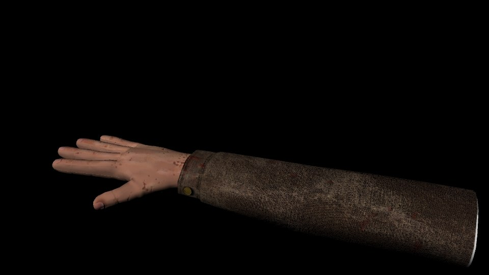 3d model person shooter arm