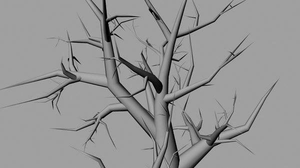 tree horror 3d fbx