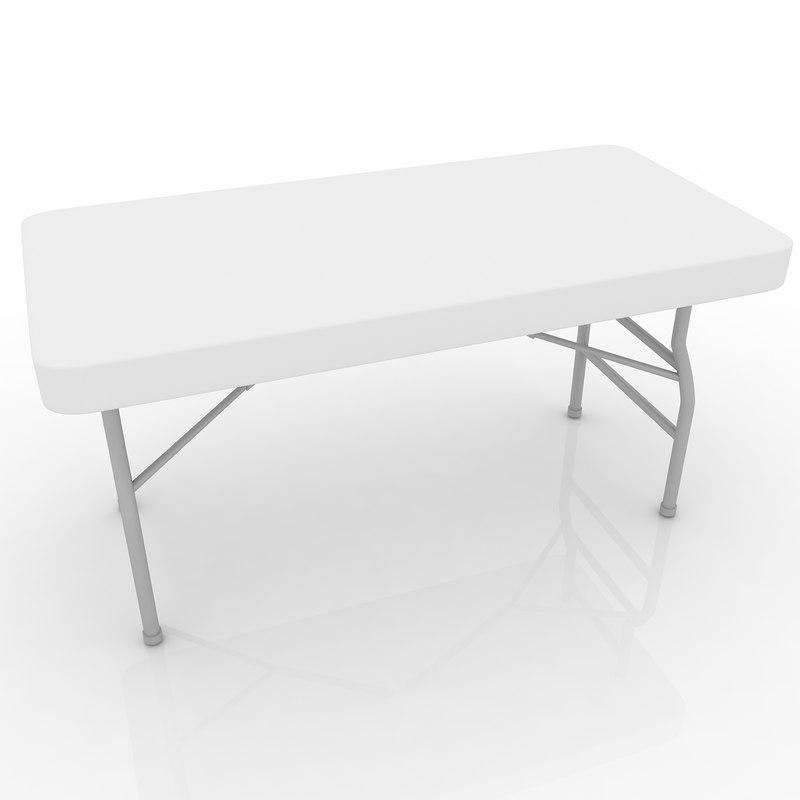 center folding table 3d 3ds