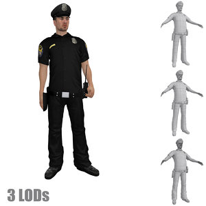 rigged police officer s hat max
