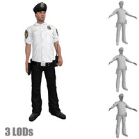 3d rigged police officer 3 model