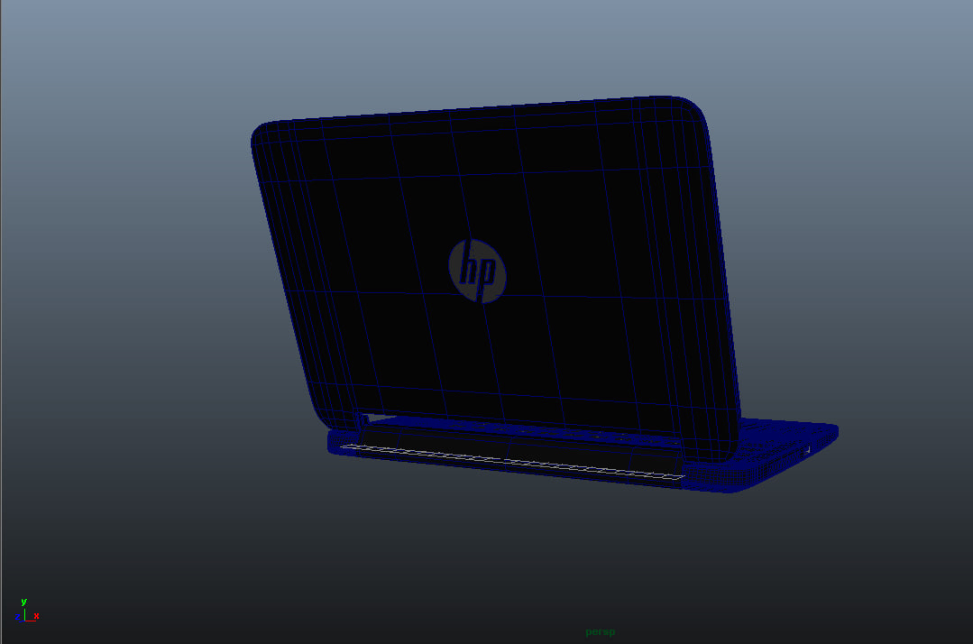 3d model hp x360 laptop