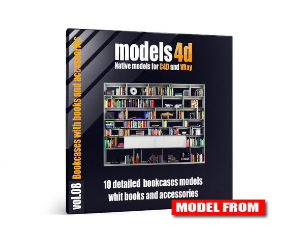 3d vol 8 10 bookcases model
