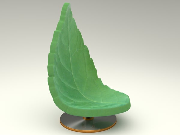 3d chair natural model