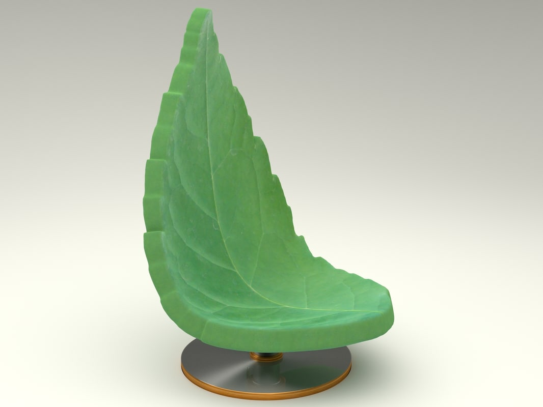 3d chair natural model