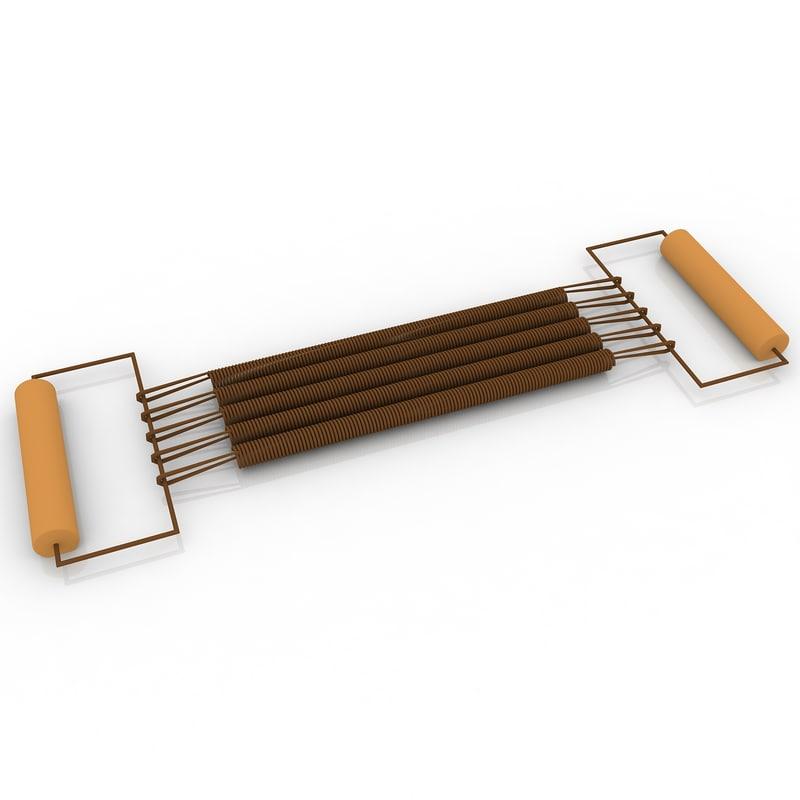 3d model chest expander