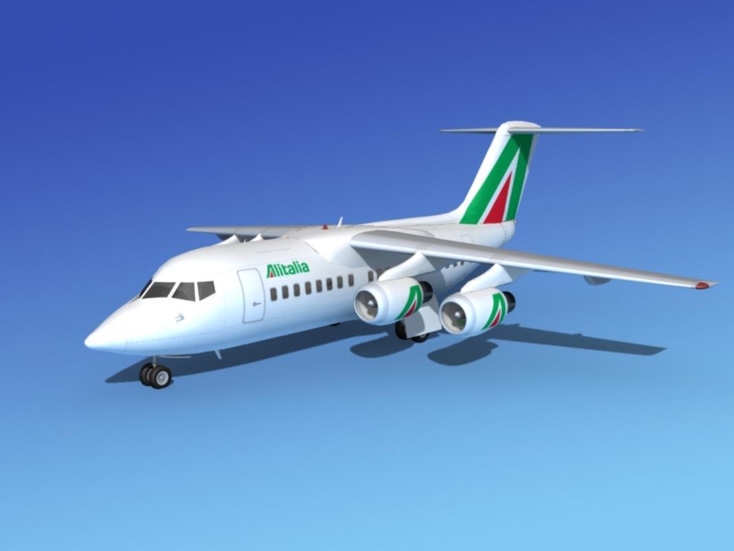 3d model of turbines bae 146