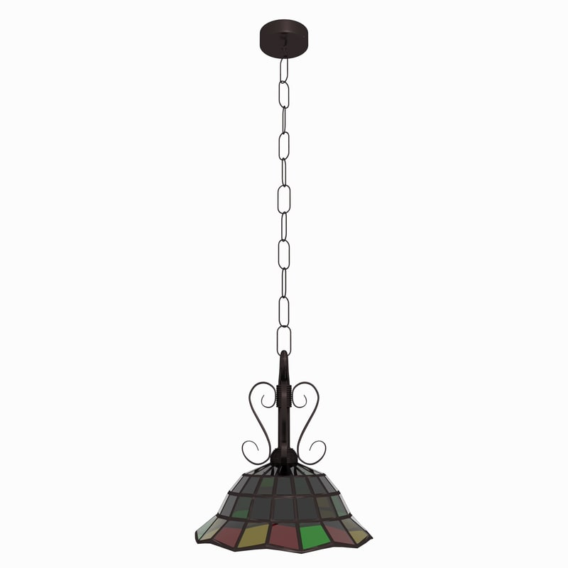 max stained glass hanging lamp. Black Bedroom Furniture Sets. Home Design Ideas