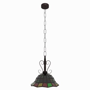 stained glass hanging lamp max