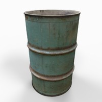 Barrel Drum Old Green