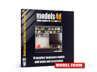 vol 10 bookcases book 3d model
