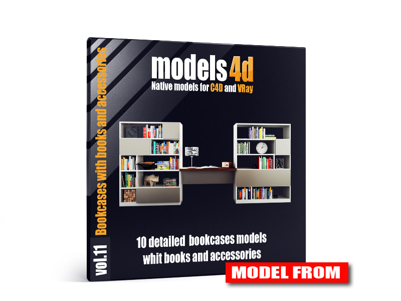 cinema4d vol 11 10 bookcases