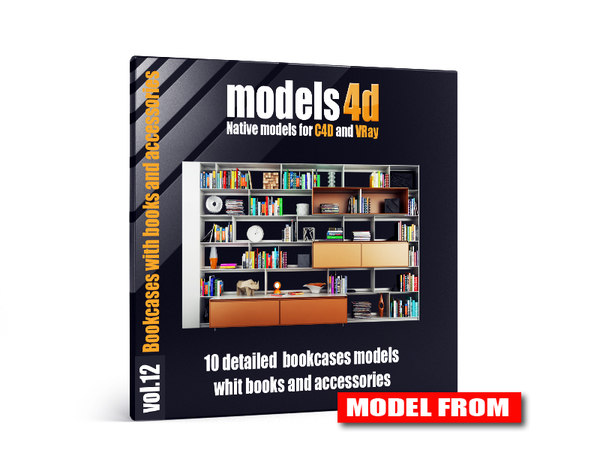 vol 12 10 bookcases c4d