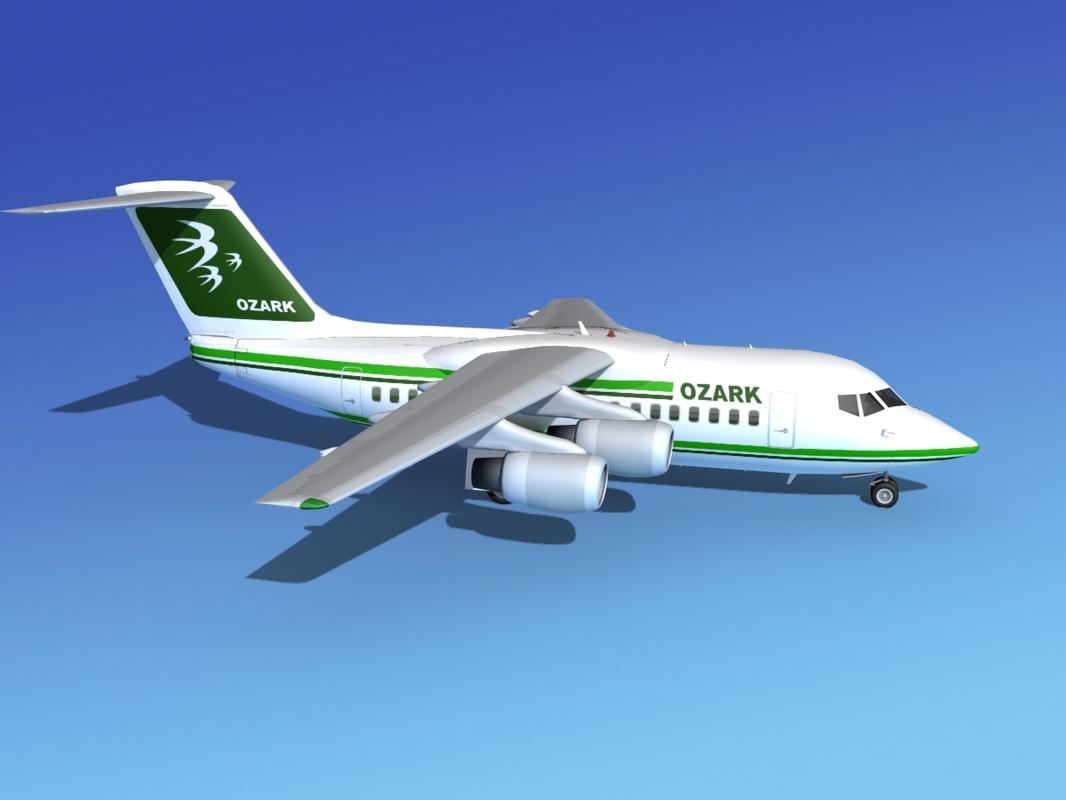 turbines bae 146 airliner 3d model