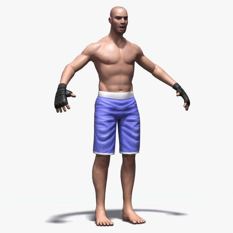 martial arts mma fighter 3d model