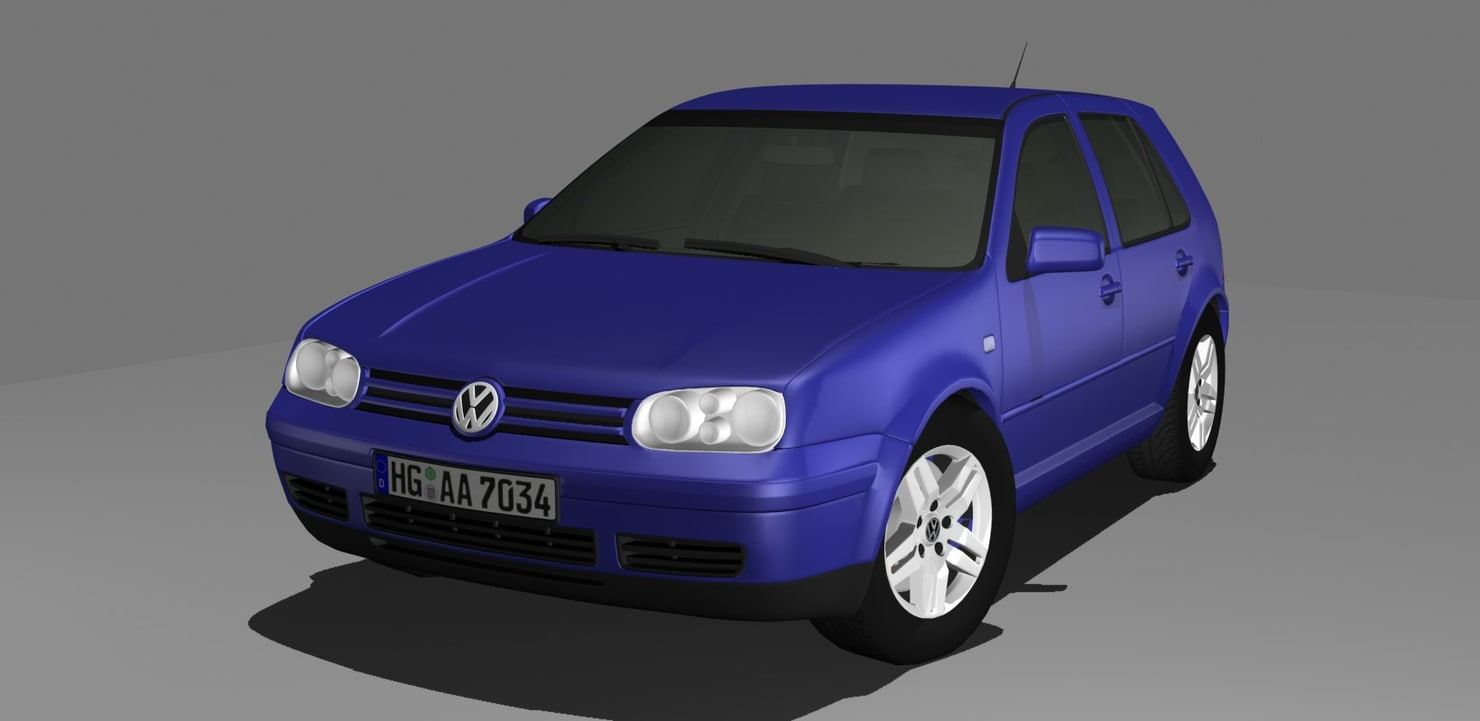 3d model volkswagen golf 4 iv