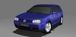 3d model volkswagen golf 4 iv