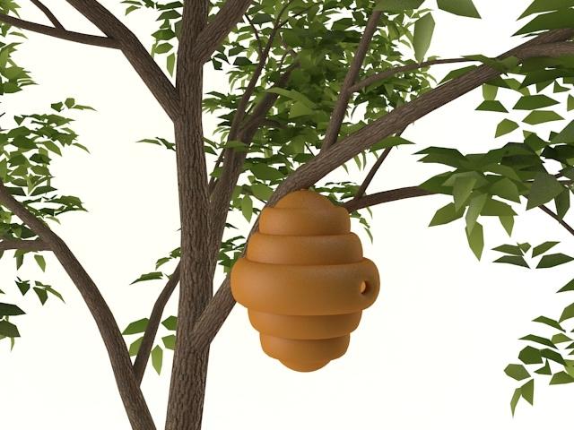 3d model bee hive