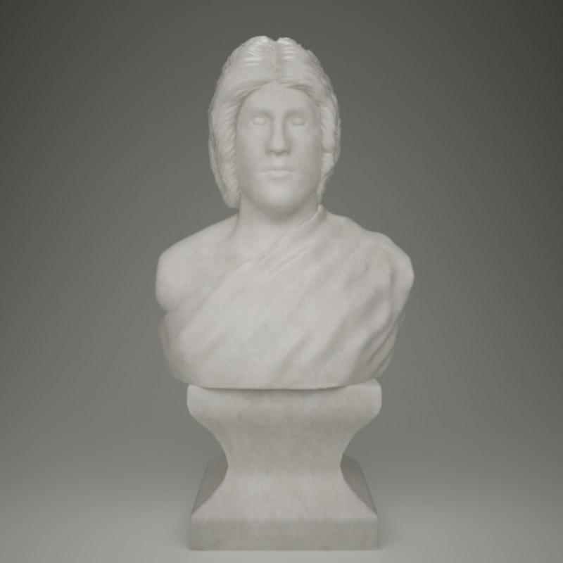 3d bust alexander great