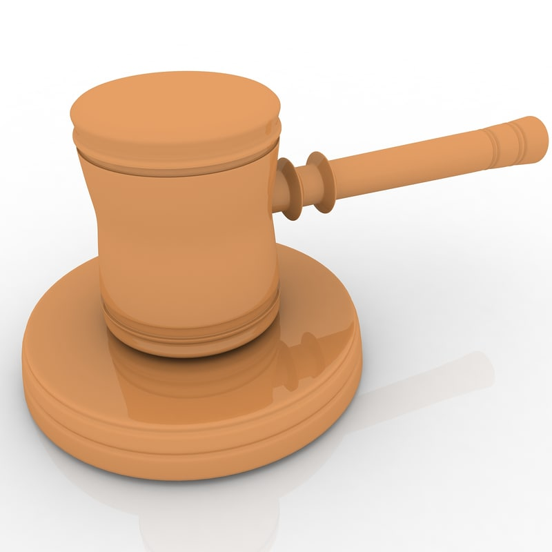 judge hammer 3d max