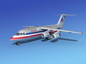 turbines bae airliner 3d 3ds