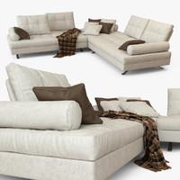 3dsmax leather sofa