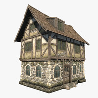 fantasy medieval house 3d max