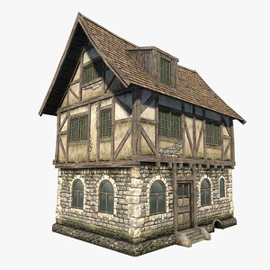 fantasy medieval house 3d max