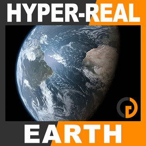 3d hyper-real dynamic earth shader