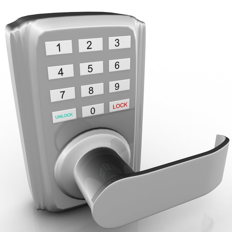 keypad door lock 3d max