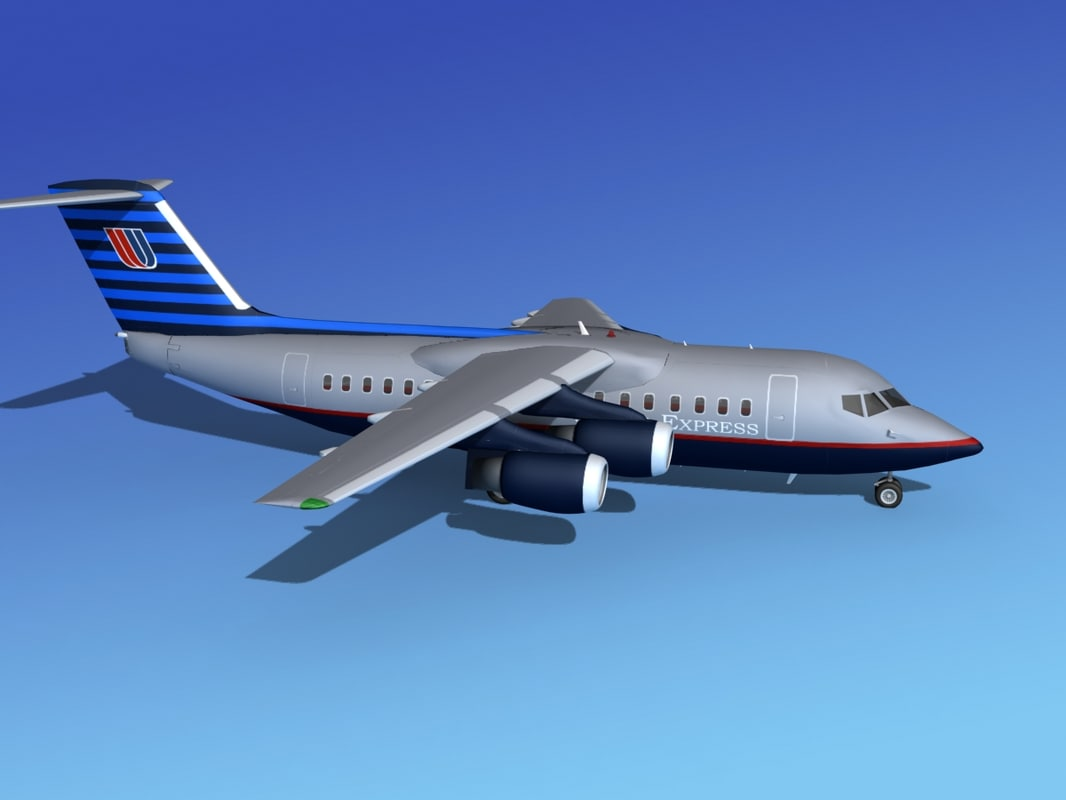 turbines bae united airliner 3d model