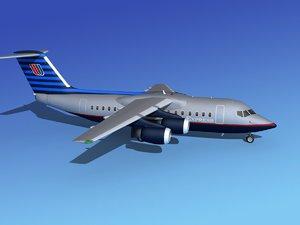 turbines bae united airliner 3d model