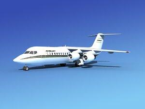bae 146 jet 3d max