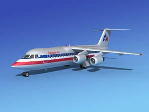 bae 146 airliners 3d model