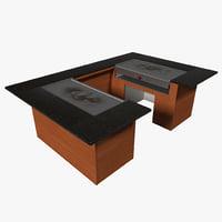 Hibachi Grill Table