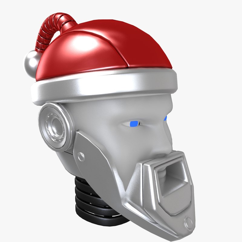 3d santa-bot head model