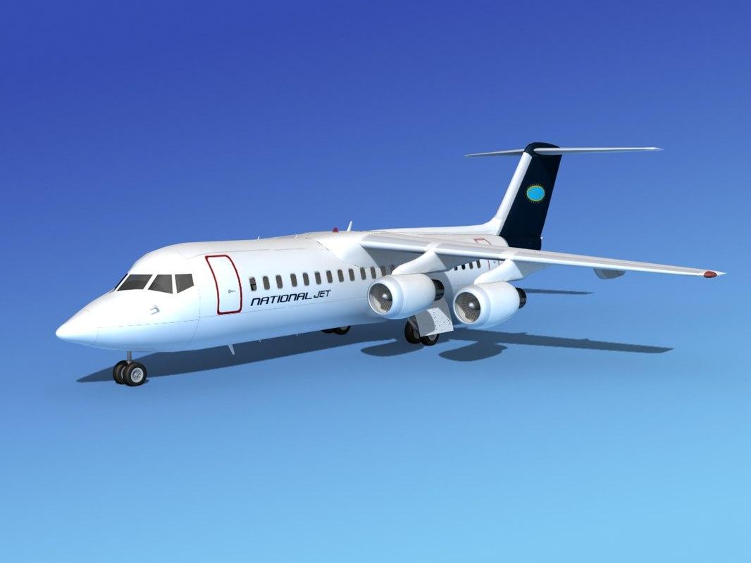 bae 146 jet 3d 3ds