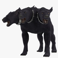 Three-Headed Dog Cerberus Fur Rigged